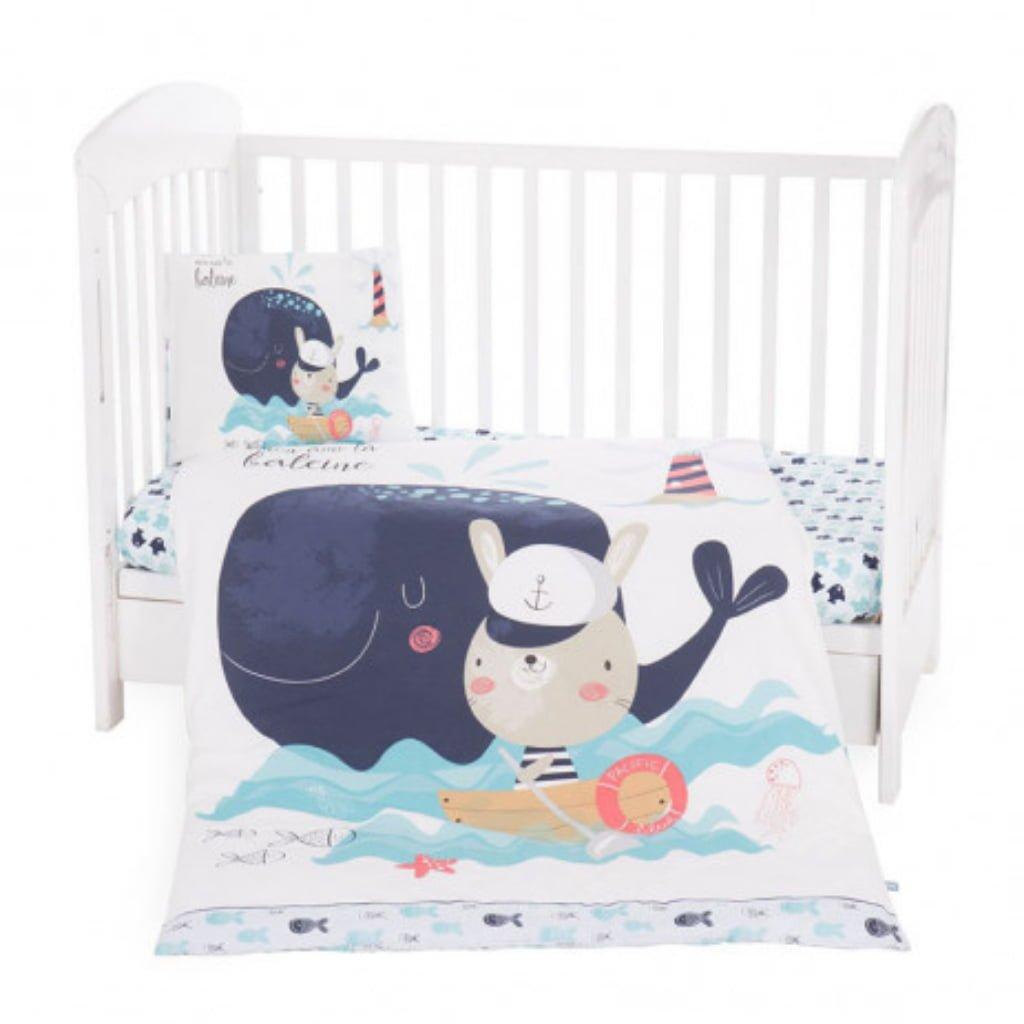 Kikka boo posteljina 2 dijela Happy Sailor  60 x 120 cm