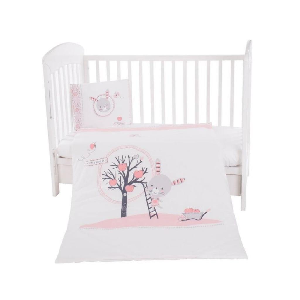 Kikka boo posteljina 3 dijela Pink Bunny  60 x 120 cm