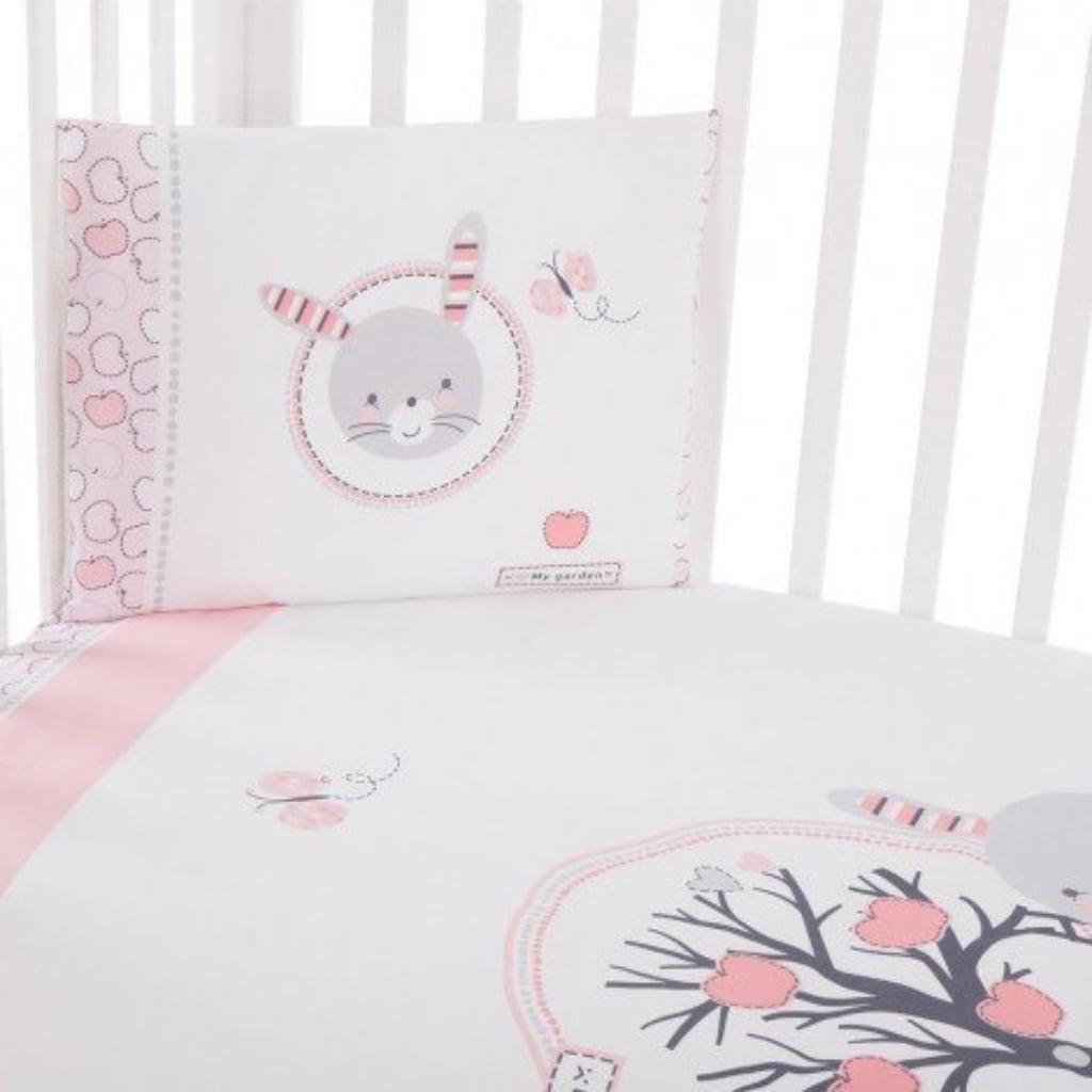 Kikka Boo posteljina 3 dijela Pink Bunny03
