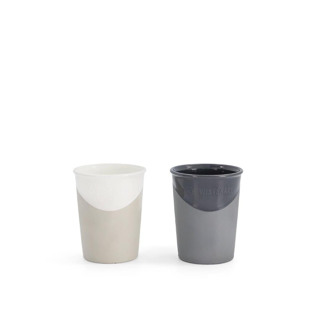 Twistshake čaše 170ml, 2kom Black and White