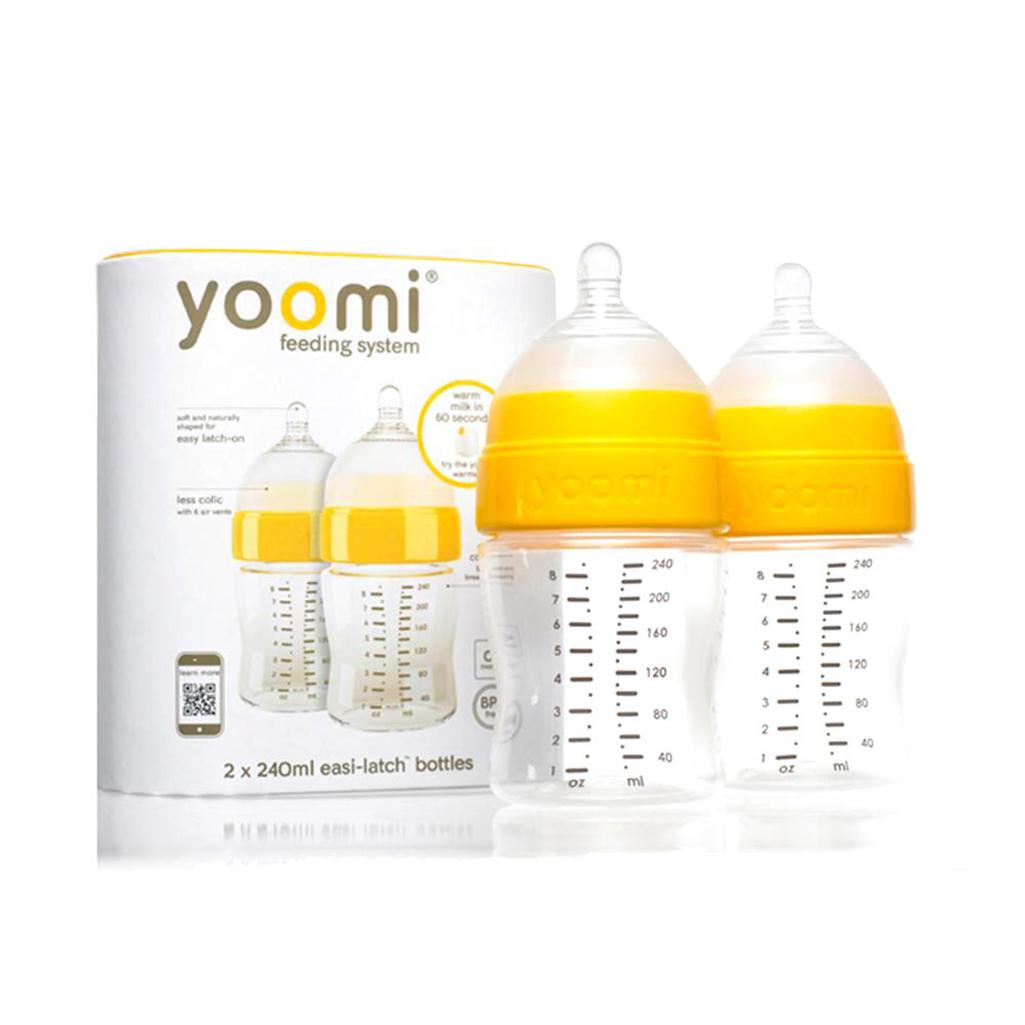 Yoomi bočica 240ml + 2kom + posudica orange
