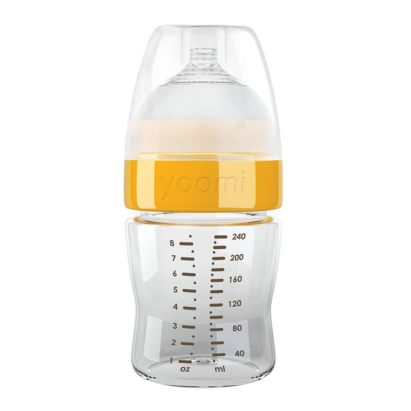 Yoomi bočica 140ml + S sisač Narančasta