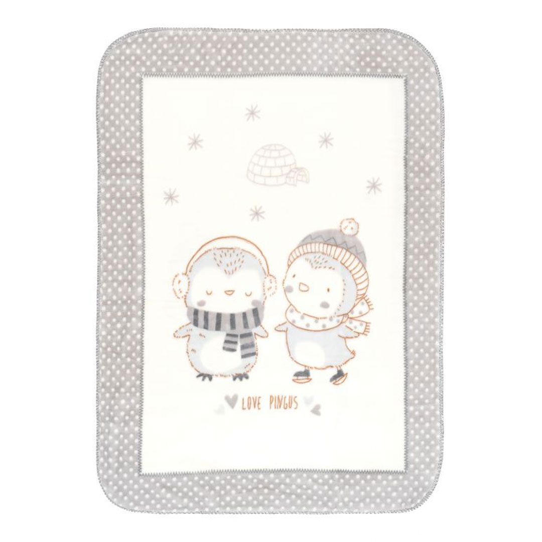 Kikka boo deka Love Pingus Grey 80 x 110 cm