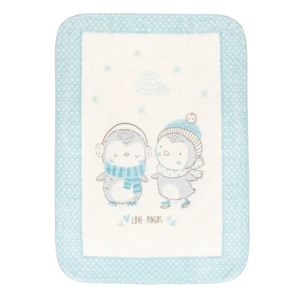 Kikka boo deka Love Pingus Blue 80 x 110 cm