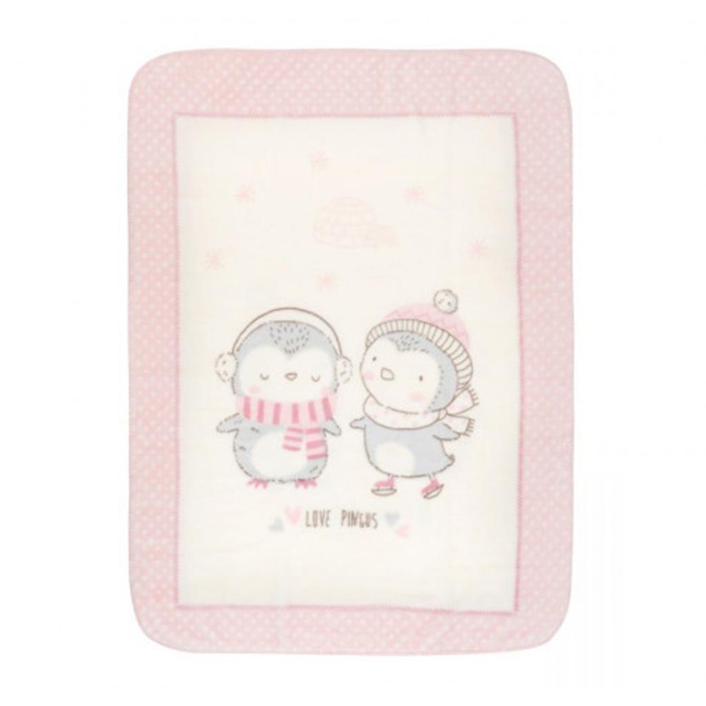 Kikka boo deka Love Pingus Pink 80 x 110 cm