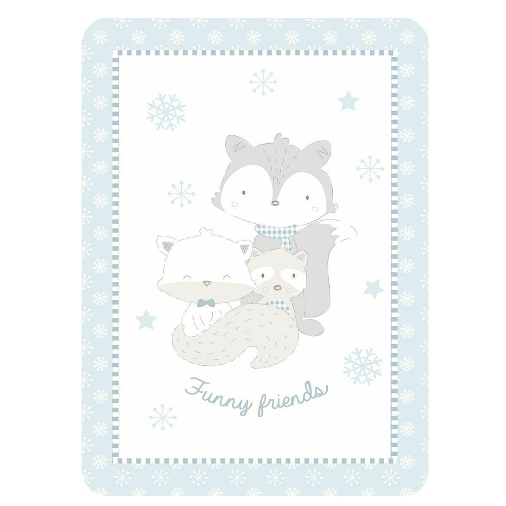 Kikka boo deka Love Funny Friends Blue 80 x 110 cm