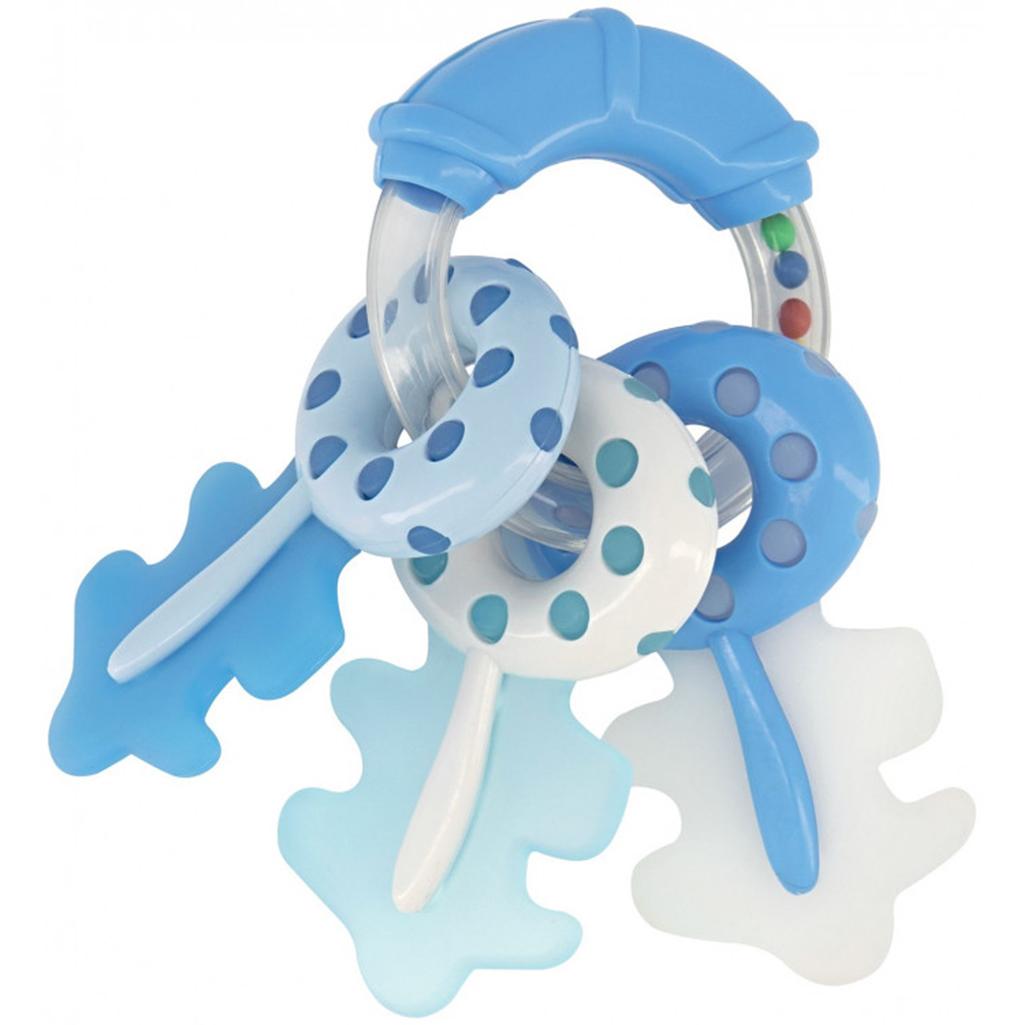 Kikka boo silikonska grickalica / zvečka za zubiće Keys blue