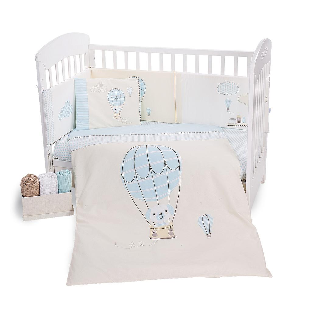 Kikka boo posteljina 6 dijelova Puppy on Balloon 60 x 120 cm