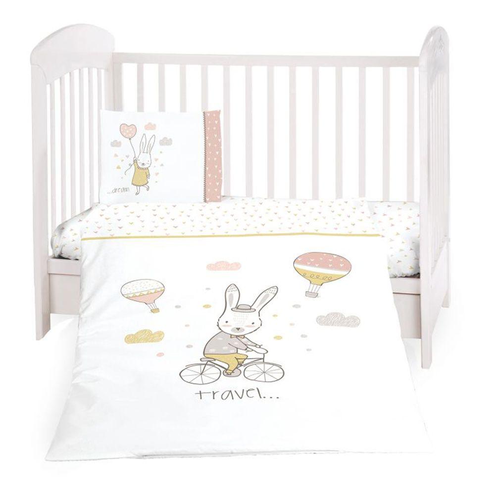 Kikka boo posteljina 6 dijelova Rabbits in Love 60 x 120 cm