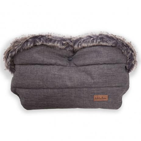 Kikka boo zimske rukavice za kolica Luxury Fur Grey