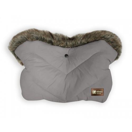 Kikka boo zimska vreća za kolica Luxury Fur Grey