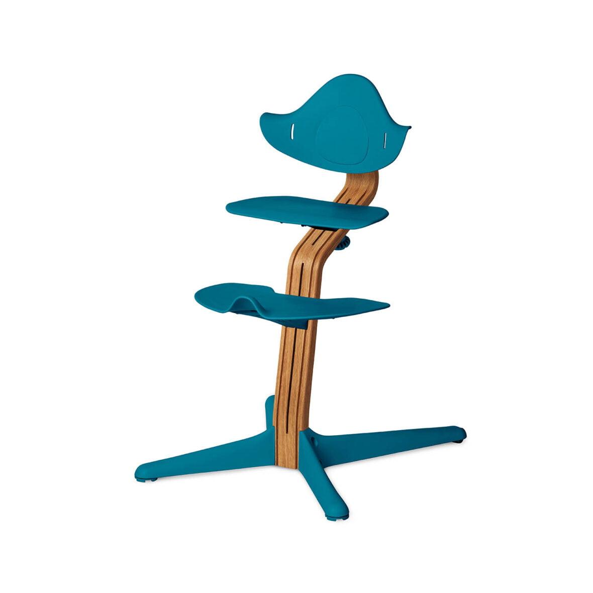 Nomi Dječja stolica, Ocean plava + Nomi Premium baza Uljeni hrast