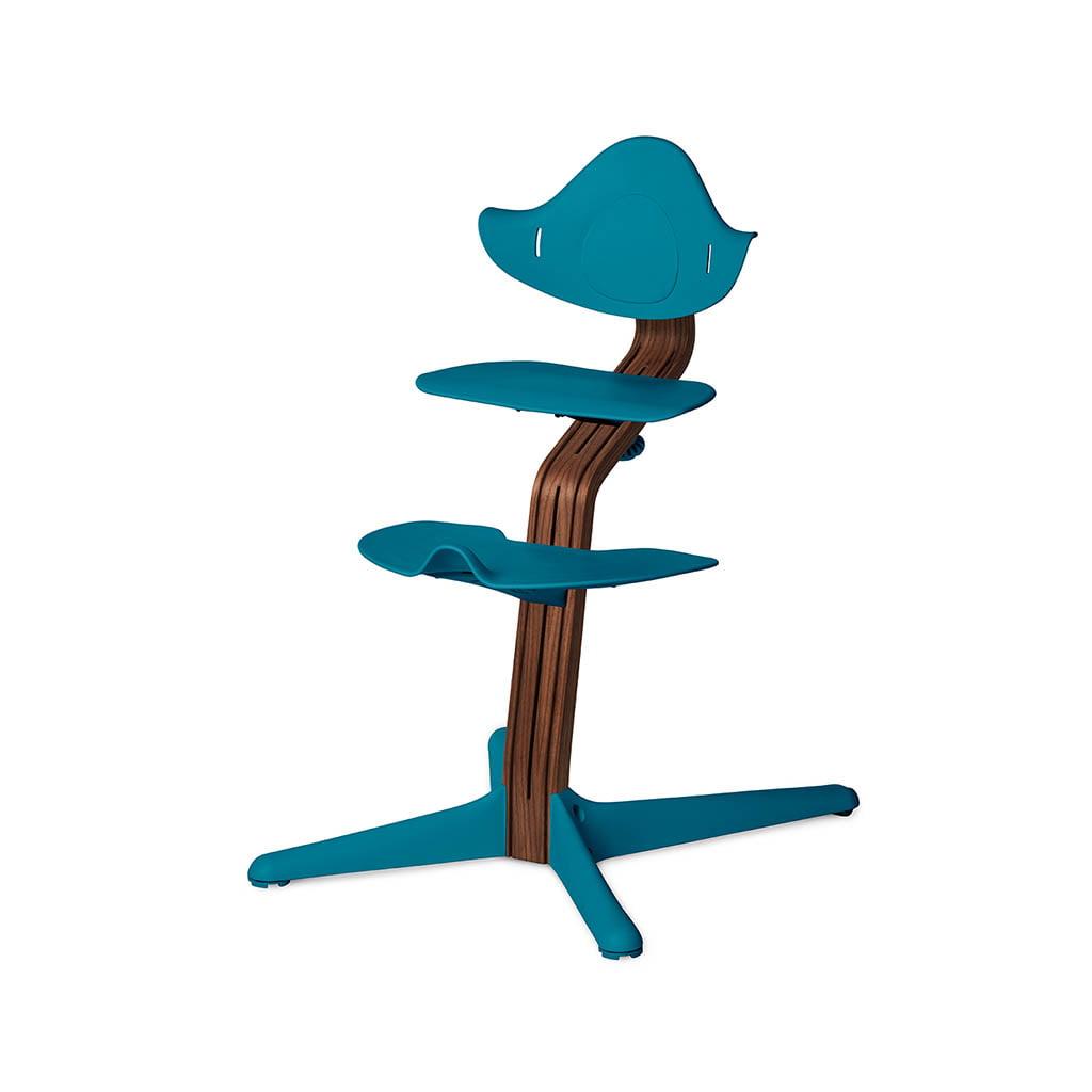 Nomi Dječja stolica, Plava + Nomi Premium baza Uljeni orah