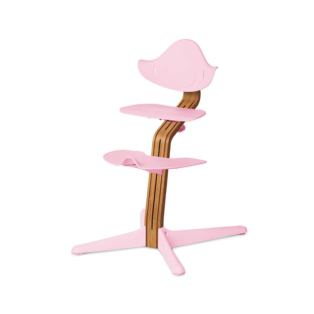 Nomi Dječja stolica, Roza + Nomi Premium baza Uljeni hrast