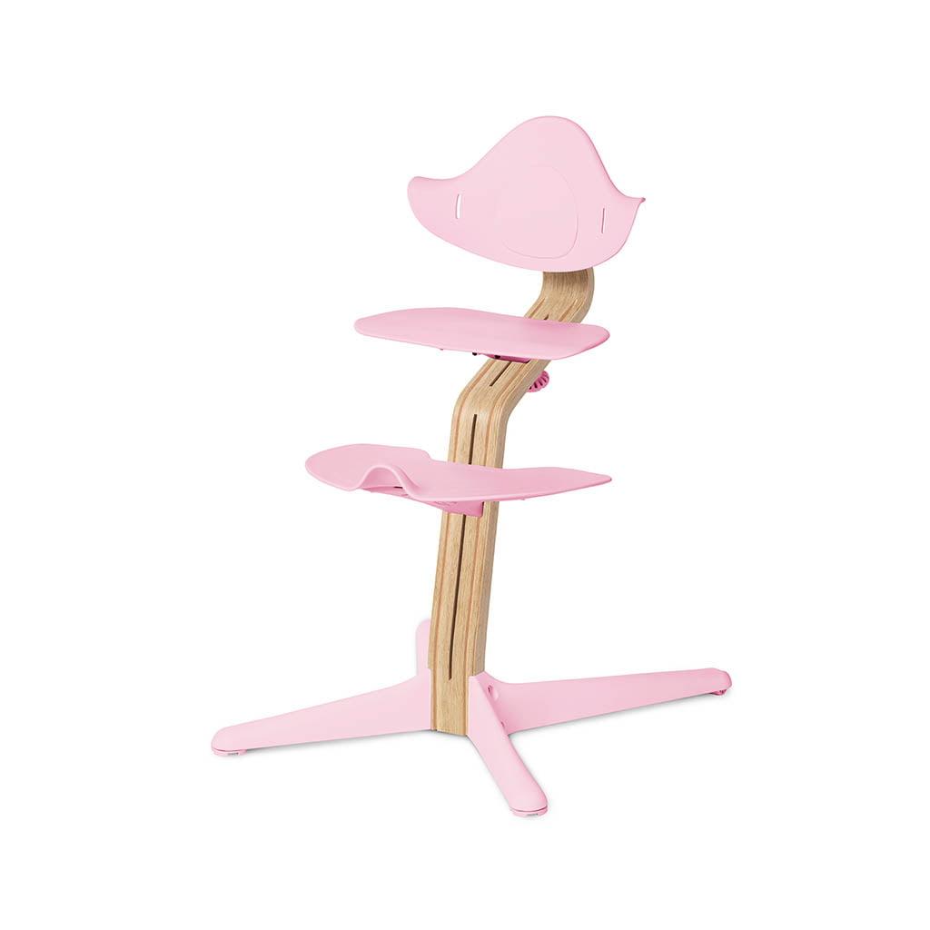 Nomi Dječja stolica, Svijetlo roza + Nomi Standardna baza Uljena bijela