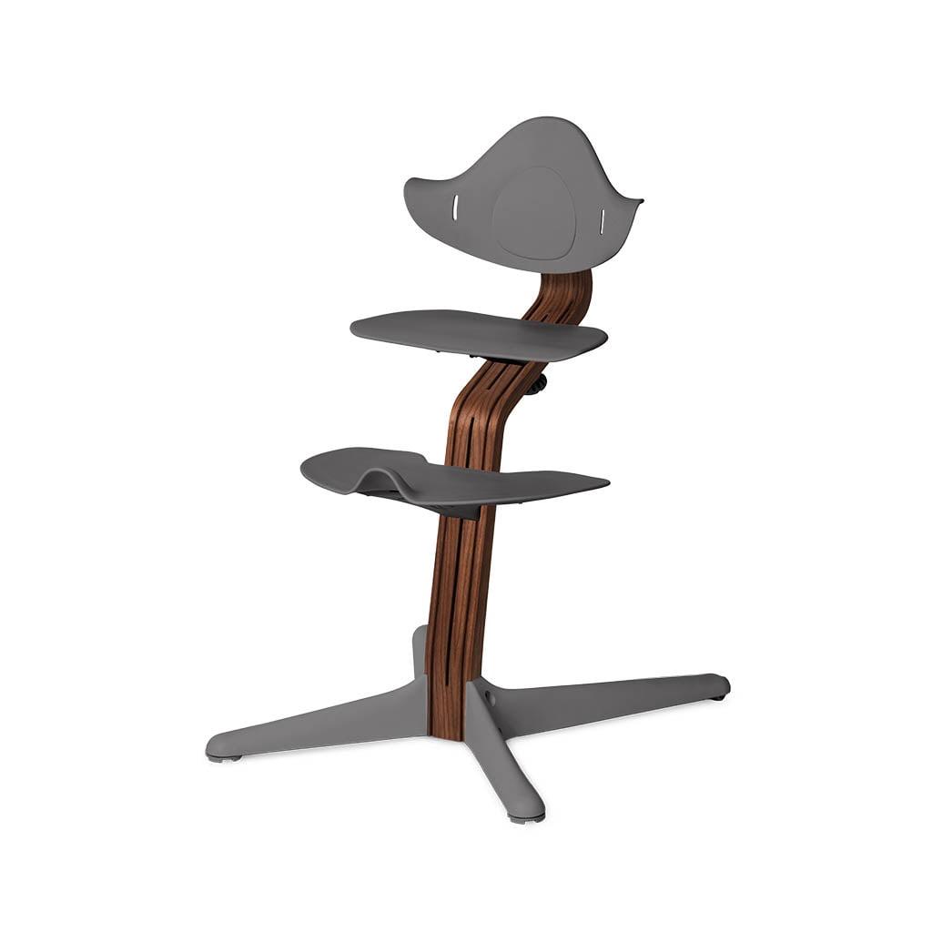 Nomi Dječja stolica, Tamno siva + Nomi Premium baza Uljeni orah