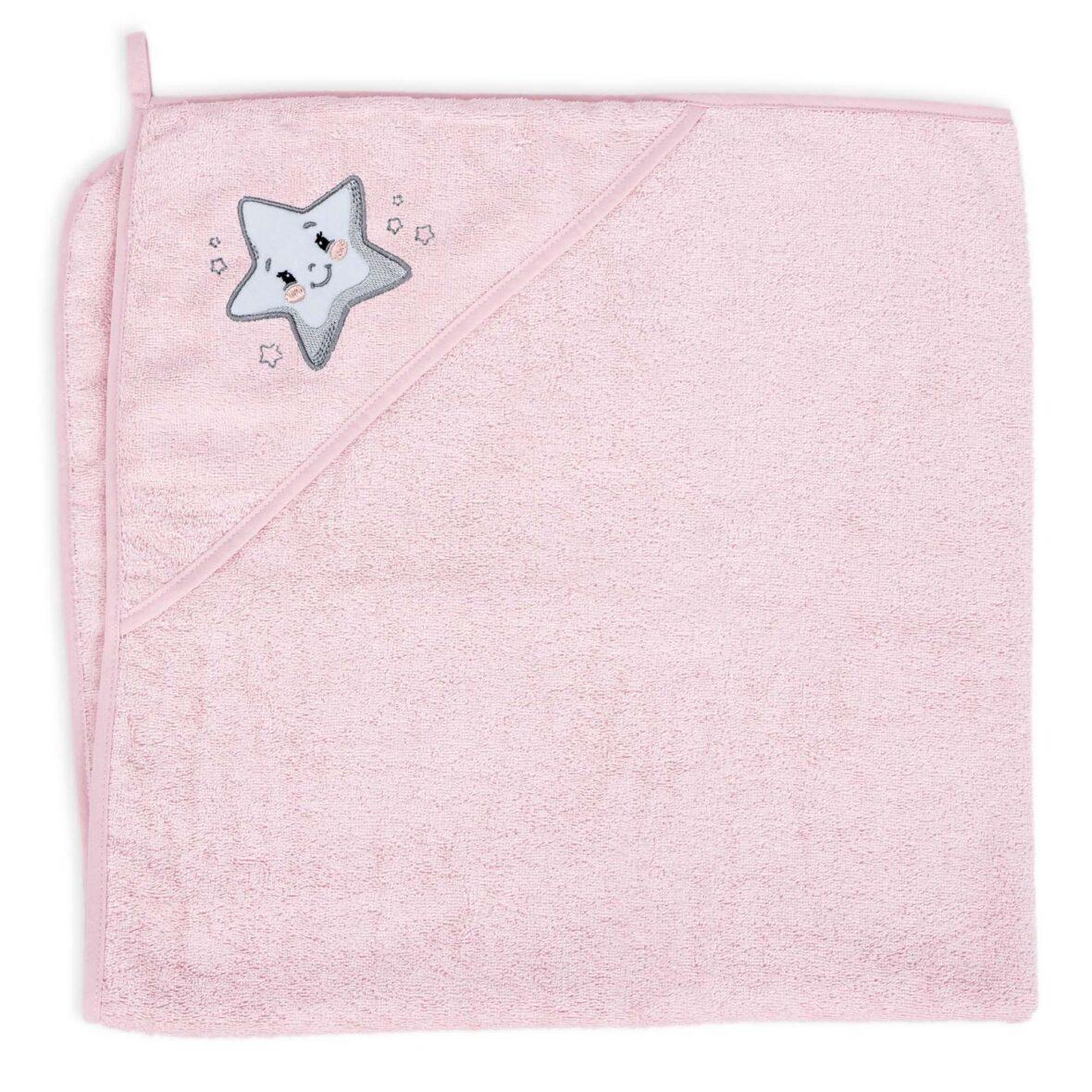 Ručnik s kapuljačom Star Pink 100×100