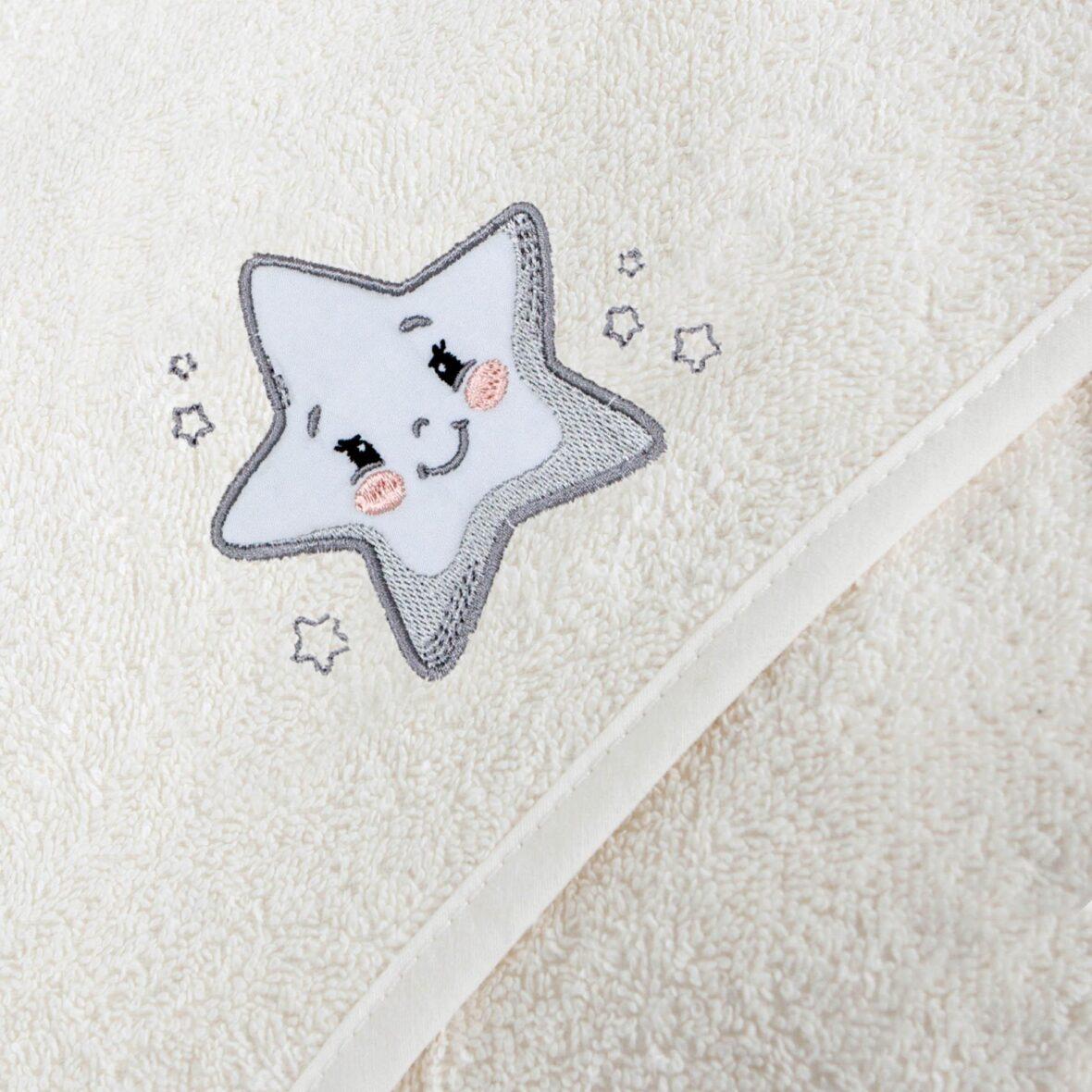 Ručnik s kapuljačom Star Creamy 100×100