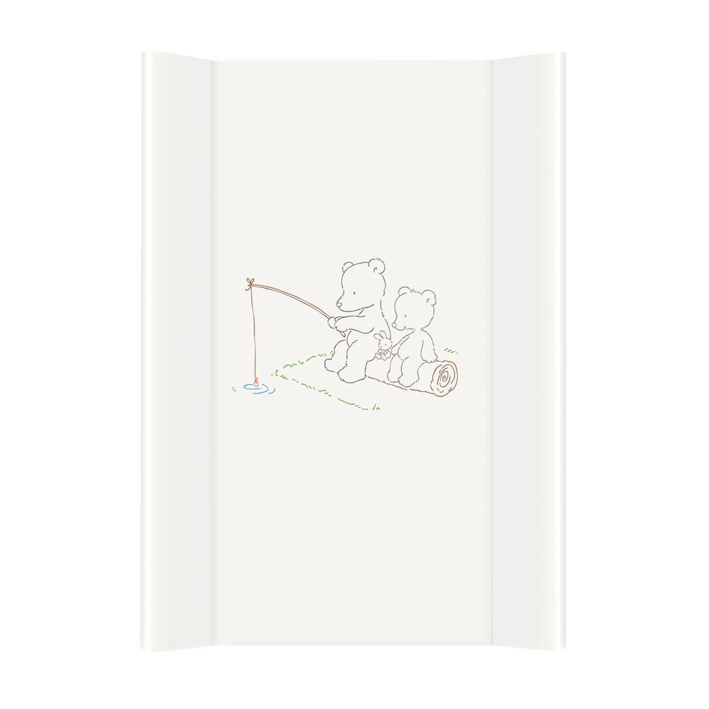 Podloga za prematanje (50×70) Papa Bear white – tvrda