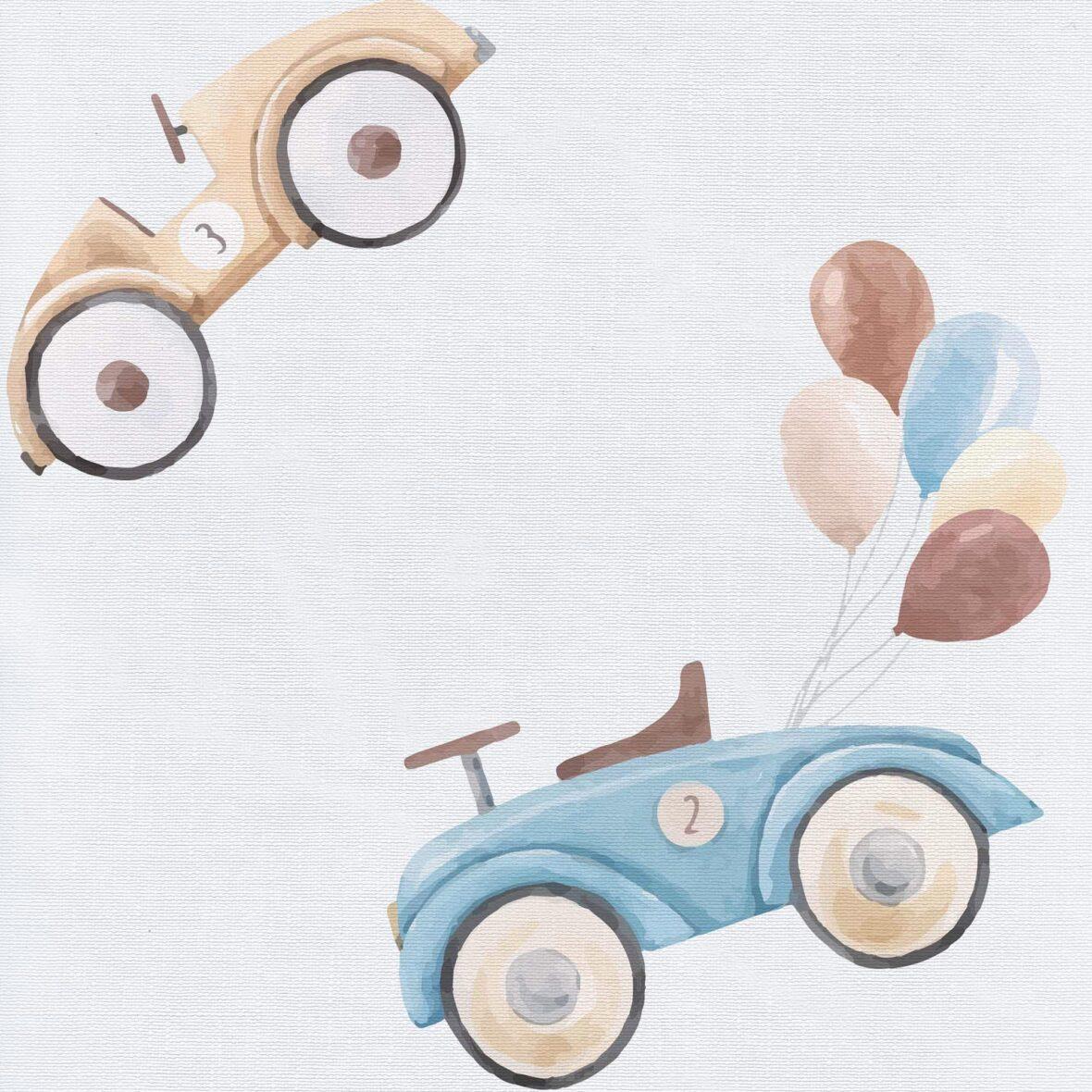 Podloga za prematanje (50×80) Retro Cars – tvrda