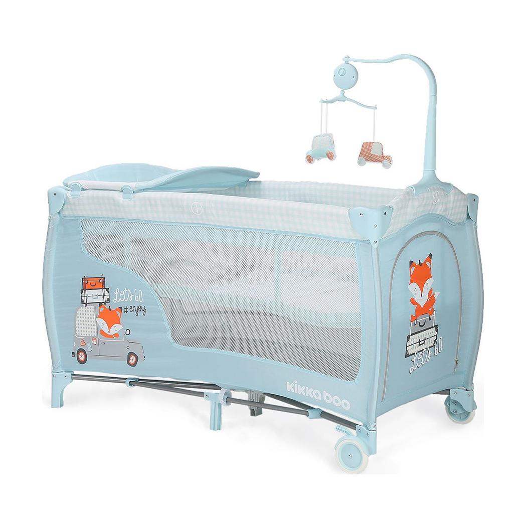 Kikka boo sklopivi krevetić Dolce Sonno 2 nivoa Blue